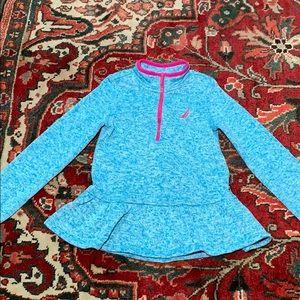 Nautica 5 hot pink ruffle pullover half zip